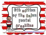 4th edition of Cajun fonts:  Cracklins
