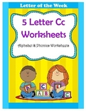 5 Letter C Worksheets / Alphabet & Phonics Worksheets