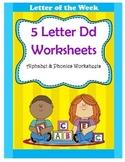5 Letter D Worksheets / Alphabet & Phonics Worksheets