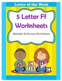 5 Letter F Worksheets / Alphabet & Phonics Worksheets / Le