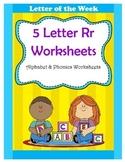 5 Letter R Worksheets / Alphabet & Phonics Worksheets