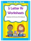 5 Letter R Worksheets / Alphabet & Phonics Worksheets / Le
