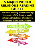 5 Major World Religions Reading Packet