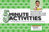 5 Minute Nutrition Activities for Preschoolers