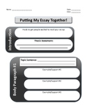 5 Paragraph Essay Graphic Organizer/Outline