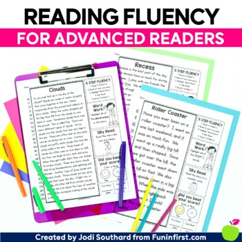 5 Step Fluency {For Advanced Readers}