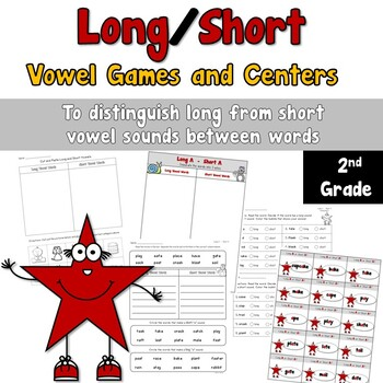 Long/Short Vowel Sound Games and Centers