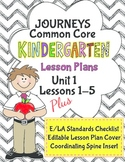 Kindergarten K Lesson Plans Journeys Common Core Unit 1 Le