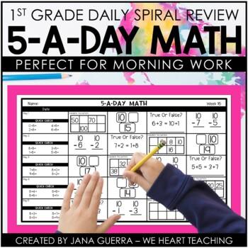 5-a-Day Math: First Grade Spiraling Review (FULL YEAR)