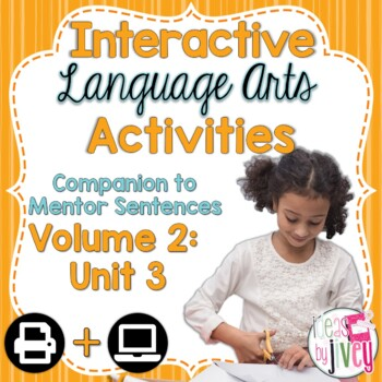 Volume 2 Language Arts Notebook Companion for THIRD Mentor Sentence Unit