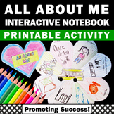 All About Me Interactive Notebook Back to School Counselin