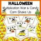 Halloween Multiplication War and Candy Corn Shake Up