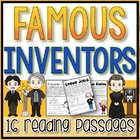 Famous Inventors Reading Passages w/QR Read Aloud