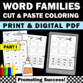 Word Families Part I Phonics Worksheets Sight Word Work Pr