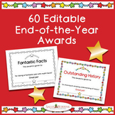 60 End-of-Year Achievement Award Certificates - Editable -