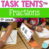 5th Common Core Partner Math Centers *Name Tag Style*: Fractions