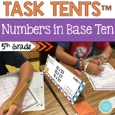 5th Common Core Name Tag Math Centers Numbers in Base Ten