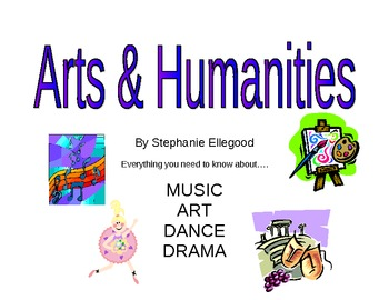 5th Grade Arts & Humanities Book (music, art, dance, drama)