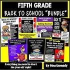 "5th Grade ""Back To School"" Literacy Bundle!"