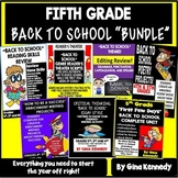 "5th Grade ""Back To School"" Literacy Bundle!"