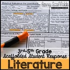 5th Grade CCSS Reading Literature Student Response Pages