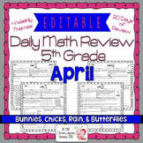 EDITABLE 5th Grade Common Core Daily Math Review/Morning W