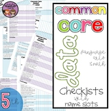 {5th Grade} Common Core Data Checklist - Math and ELA