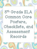 5th Grade Common Core ELA Packet with Assessment Records