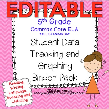 5th Grade Common Core: ELA {Student Data Tracking Binder Pack} *ALL STANDARDS*
