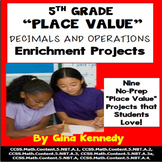 5th Grade Place Value, Decimals and Operations Projects
