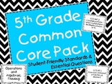 5th Grade Common Core Math Student-Friendly Standards & Es