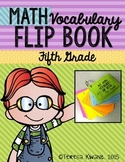 5th Grade Common Core Math Vocabulary Flip Book