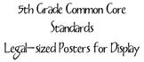 5th Grade Common Core Standards POSTERS