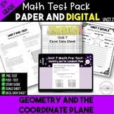 5th Grade Common Core Unit 5 Math Test:  Coordinate Planes