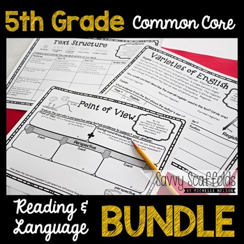5th Grade CCSS Lessons, Organizers & Student Response Pages for ANY text(Bundle)