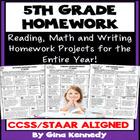 5th Grade Homework Differentiated Homework Program, All Year!