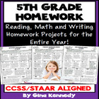 5th Grade Common Core Homework Language Arts & Math All Year!