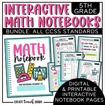 5th Grade Interactive Math Notebook {BUNDLE}