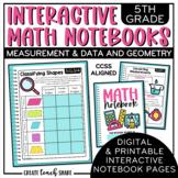 5th Grade Interactive Math Notebook - Measurement & Data a