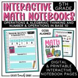 5th Grade Interactive Math Notebook - OA & NBT