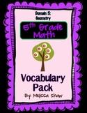 5th Grade Math Common Core Vocabulary Complete Pack *Domain 5*