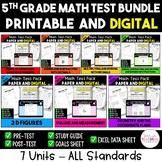 5th Grade Math Test Bundle:  Entire year - 7 Units - ALL C