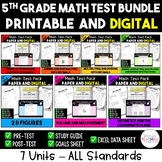5th Grade Math Test Bundle