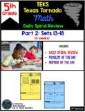 5th Grade NEW TEKS TX Tornado Spiral Review Pt 2 (Sets 7-1