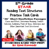 5th Grade STAAR READING NONFICTION INFORMATIONAL TEXT TASK CARDS