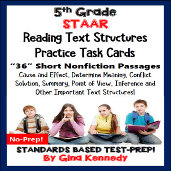 5th Grade STAAR READING NONFICTION INFORMATIONAL TEXT FEATURES TASK CARDS!