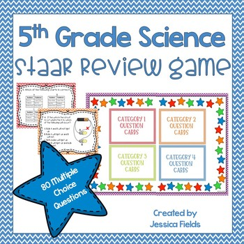 5th Grade Science STAAR Review Game - 80 QUESTIONS!