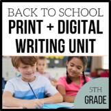 5th Grade Writing Unit -Loving Writing- Unit 1 {Common Cor