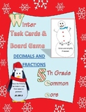 5th grade common core fractions & decimals winter task car