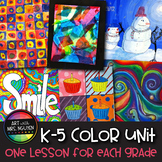 6-Lesson Vertical Elementary Art Color Unit